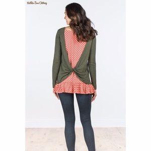 Matilda Jane My Miracle Twist Layered Sweater Top